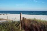 beach and fence