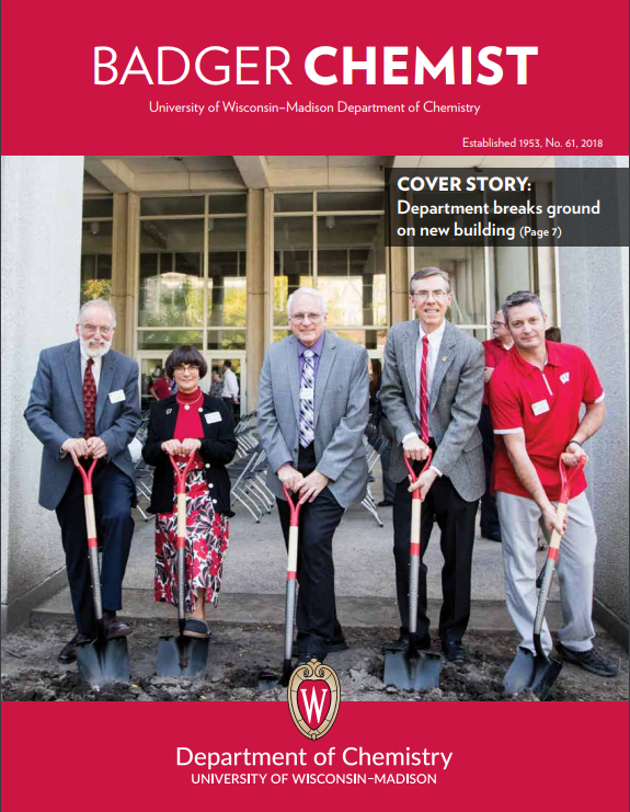 Cover of the Badger Chemist alumni publication